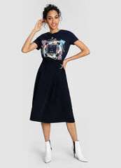 Кофта, блузка, футболка женская O'stin Футболка с принтом в морском стиле LT1W57-68