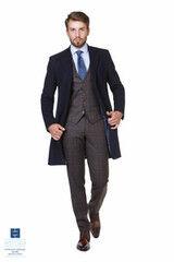 Верхняя одежда мужская HISTORIA Пальто утепленное темно-синее