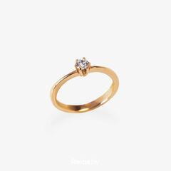 Ювелирный салон Белорусские Бриллианты Кольцо из золота со вставкой бриллиант синт. 21020018