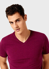 Кофта, рубашка, футболка мужская O'stin Футболка мужская с V-горловиной MT6V32-V7