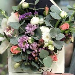 Магазин цветов Прекрасная садовница Цветочная композиция в конверте