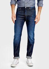 Брюки мужские O'stin Тёмно-синие джинсы Slim Fit MP1T41-D3
