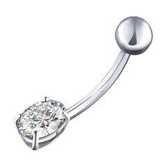 Ювелирный салон Sokolov Пирсинг в пупок из серебра с фианитом 94060061