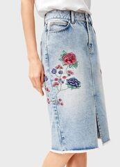 Юбка женская O'stin Джинсовая юбка с вышивкой LD1T31-D5