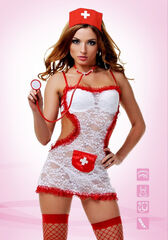 Интим-магазин Eroticon Костюм «Соблазнительная медсестра» SKU02803S/M