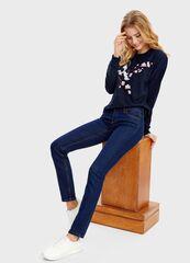 Брюки женские O'stin Базовые узкие джинсы LPD105-D1