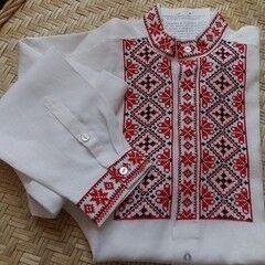 Подарок Славутасць Рубашка вышиванка с белорусским орнаментом zem005