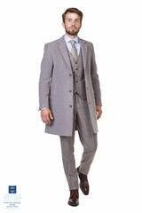 Верхняя одежда мужская HISTORIA Пальто утепленное светло-серое