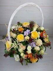 Магазин цветов Cvetok.by Цветочная корзина «С пионовидной розой»