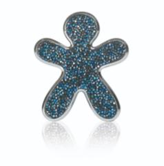 Подарок NIKI Swarovski Ароматизатор для авто Crystal Blue Silver Finishing Nuit Des Etoiles