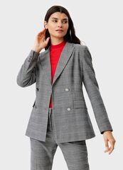 Пиджак, жакет, жилетка женские O'stin Двубoртный пиджак в клетку LB1T51-99