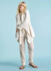 Кофта, блузка, футболка женская Ermanno Scervino Кардиган SS18 белый