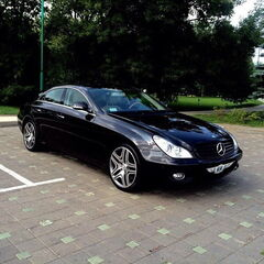 Прокат авто Прокат авто с водителем, Mercedes-Benz W219 CLS Чёрного цвета