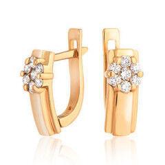 Ювелирный салон Jeweller Karat Серьги золотые с бриллиантами арт. 4223042