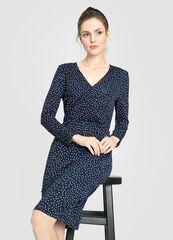 Платье женское O'stin Принтованное женское платье на запах LT4W15-68