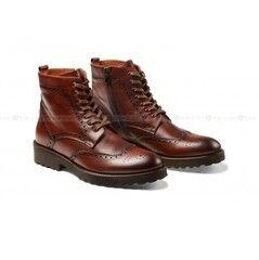 Обувь мужская Keyman Ботинки мужские броги коричневые