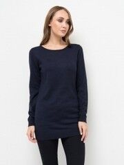 Кофта, блузка, футболка женская Sela Джемпер женский JR-114/1253-7442 темно-синий