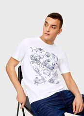 Кофта, рубашка, футболка мужская O'stin Футболка с морским принтом MT1U16-00