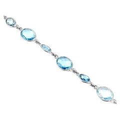 Ювелирный салон Evora Браслет из серебра 925 пробы с голубыми топазами 621427