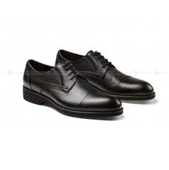 Обувь мужская Keyman Туфли мужские черные с подрезами на сплошной подошве