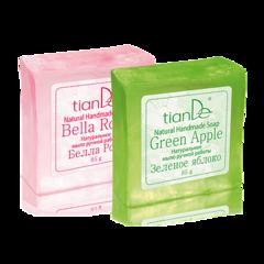 Уход за телом tianDe Натуральное мыло ручной работы «Белла Роза» и «Зеленое яблоко»