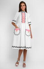 Платье женское Pintel™ Платье свободного силуэта из белого хлопка Nayoreth