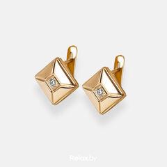 Ювелирный салон Белорусские Бриллианты Серьги из золота со вставкой бриллиант синт. 31010049