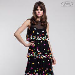 Платье женское Pintel™ Макси-платье А-силуэта без рукавов с воланами Ornela