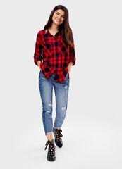 Кофта, блузка, футболка женская O'stin Рубашка в клетку LS4T51-14