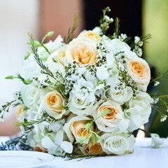 Букет лилия с орхидея цимбидиум свадебный #15