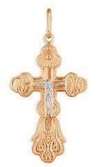 Ювелирный салон Русские самоцветы Крест золотой 66157