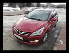Прокат авто Прокат авто Hyundai Accent (2016 г.в, красный перламутр)