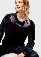 Кофта, блузка, футболка женская O'stin Бархатная женская толстовка с патчами LT1U17-69