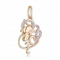 Ювелирный салон Jeweller Karat Подвеска золотая с цирконом арт. 1135874 Телец