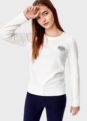 Кофта, блузка, футболка женская O'stin Джемпер с нашивкой LK5T42-02
