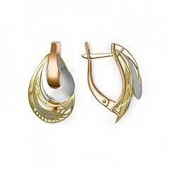 Ювелирный салон Платина Серьги золотые 02-3824-00-000-1140-48
