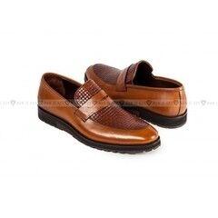 Обувь мужская Keyman Туфли мужские ЭВА лоферы рыжие с плетеной выделкой