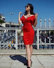 Платье женское It's me! (Это Я!) Красное платье с большим декольте