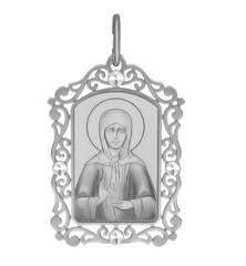 Ювелирный салон Sokolov Серебряная нательная иконка «Святая блаженная Матрона Московская» 94100233