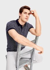 Кофта, рубашка, футболка мужская O'stin Поло в полоску MT1SA2-69