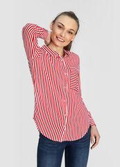 Кофта, блузка, футболка женская O'stin Вискозная женская блузка в морской принт LS4W53-14