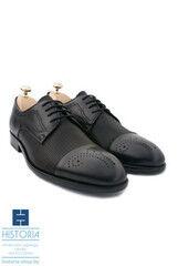 Обувь мужская HISTORIA Мужские туфли дерби с брогированием и фактурой черные