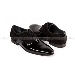 Обувь мужская Keyman Туфли мужские оксфорд лак замша черные
