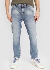 Брюки мужские O'stin Светло-голубые зауженные джинсы MP2W51-D5