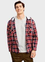 Кофта, рубашка, футболка мужская O'stin Рубашка с капюшоном MS1T42-R7
