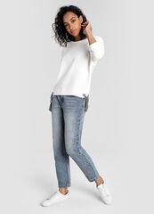 Кофта, блузка, футболка женская O'stin Джемпер с полосатыми завязками в боковых швах LT1W53-00