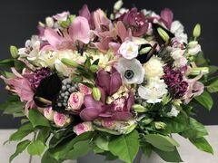 Магазин цветов Florita (Флорита) Букет из лилии, эустомы, альстромерии