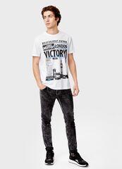 Кофта, рубашка, футболка мужская O'stin Футболка с принтом MT5T37-00