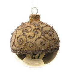 Елка и украшение mb déco Елочная игрушка «Шар в завиток» золото