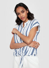 Кофта, блузка, футболка женская O'stin Принтованная блузка из вискозы LS1WC1-00